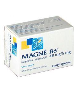 Magne B6 48 mg/5 mg 50 comprimés enrobés
