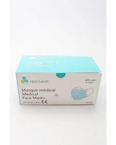 Médisanté Masques Chirurgicaux Adulte 3 plis Type 1 Boite de 50