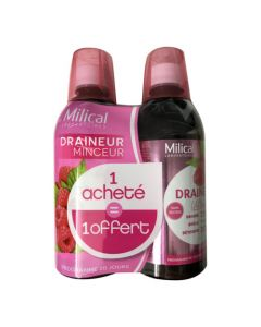 Milical Draineur Minceur Ultra Framboise Duo 2x500ml