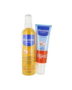 Mustela Lait Solaire Très Haute Protection SPF50+ Flacon Pompe 300ml + Après Soleil Offert