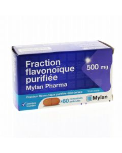 Mylan Pharma Fraction Flavonoique Purifiée 500mg 60 Comprimés