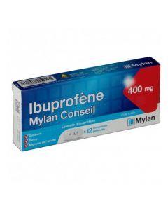 Ibuprofène Mylan Conseil 400mg 12 Comprimés