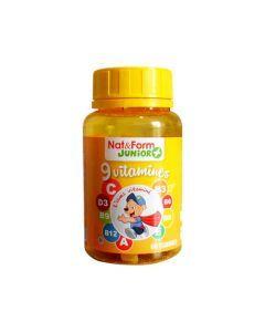 Nat&Form Junior 9 Vitamines 60 Oursons