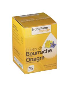 Nat&Form Original Onagre-Bourrache 200 Capsules