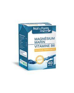 Nat&Form Original Magnésium Marin Vitamine B6 40 Gélules