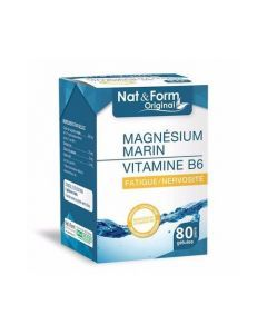 Nat&Form Original Magnésium Marin Vitamine B6 80 Gélules