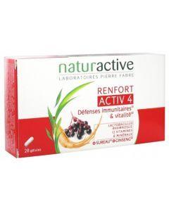 Naturactive Activ 4 Renfort  Défenses Immunitaires et Vitalité 28 Gélules