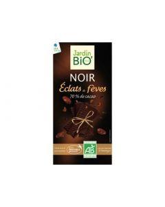 Jardin bio chocolat noir aux éclats defèves 100g