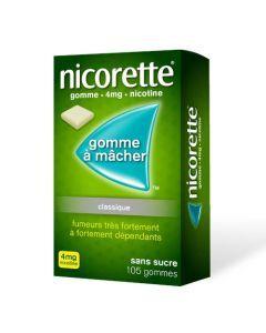 Nicorette Menthe Fraîche 4mg Sans Sucre 105 Gommes
