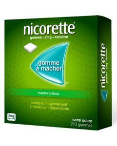 Nicorette Menthe Fraîche 2mg Sans Sucre 210 Gommes