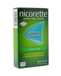 Nicorette Menthe Fraîche 4mg Sans Sucre 30 Gommes