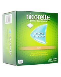 Nicorette Fruits 2mg Sans Sucre 210 Gommes