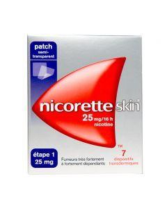 Nicoretteskin 25mg/16 heures 7 Patchs