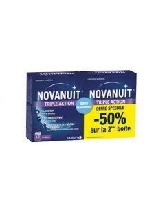Novanuit Triple Action 2X30 Gélules Offre Spéciale -50% sur la 2ème boite
