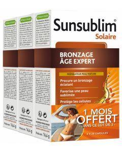 Nutreov Sunsublim Bronzage Âge Expert Lot de 3 x 28 Capsules