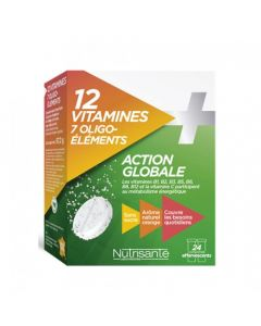Nutrisanté 12 Vitamines + 7 Oligo-Éléments 2x12 comprimés