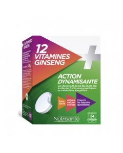 Nutrisanté 12 Vitamines + Ginseng 2x12 comprimés