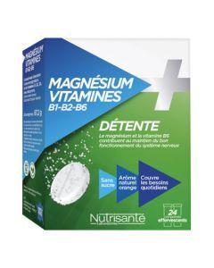 Nutrisanté Détente Magnésium + Vitamines B1 B2 B6 2x12 comprimés