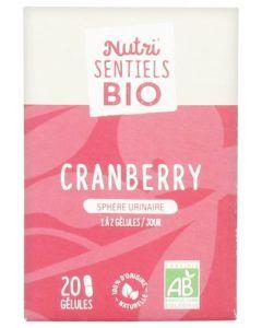 Nutrisanté Nutri'Sentiels Bio Cranberry Sphère Urinaire 20 Gélules