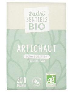 Nutrisanté  Nutri'Sentiels Bio Artichaut 20 Gélules
