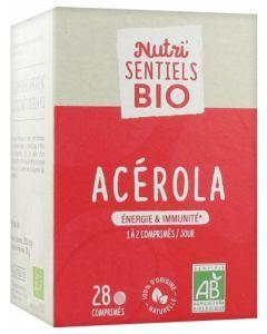 Nutrisanté Nutri'sentiels Acérola Bio 28 Comprimés