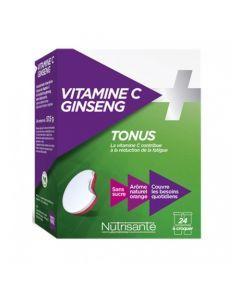 Nutrisanté Vitamine C + Ginseng 2x12 comprimés