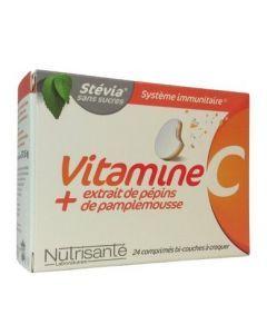 Nutrisante Vitamine C + Extrait de Pépins de Pamplemousse 24 Comprimés