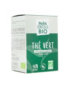 Nutrisanté Nutri'Sentiels Bio Thé Vert 40 Gélules