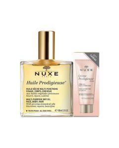 Nuxe Huile Prodigieuse 100ml + Crème Prodigieuse Boost 15ml Offerte