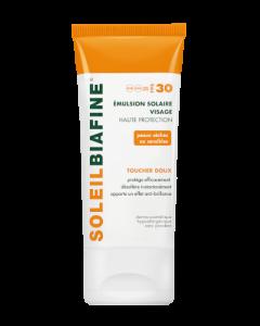 Soleilbiafine Emulsion Solaire Visage Haute Protection Toucher Doux FPS 30 50ml