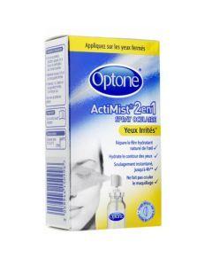 Optone Actimist 2 en 1 Spray Oculaire Yeux irrités 10ml