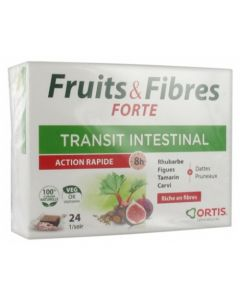 Ortis Fruits & Fibres Forte Transit Intestinal Action Rapide 24 cubes