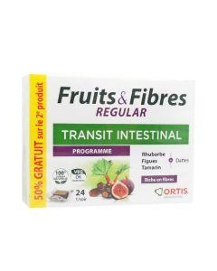 Ortis Transit Intestinal Fruit & Fibres Regular Lot 1+2ème 50% Offerts 2x24 cubes