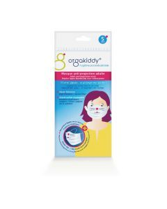 Orgakiddy Masque Chat Anti-Projections Adulte Pochette de 5