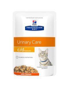 Hill's Prescription Diet C/D Urinary Stress pour Chat au Poulet 12 x 85g