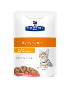 Hill's Prescription Diet C/D Multicare pour Chat au Saumon 12 x 85g