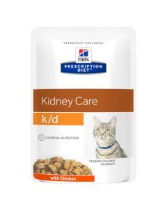 Hill's Prescription Diet K/D Aliment pour Chat au Poulet 12 x 85g