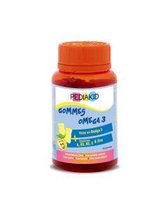 Pediakid Gommes Oméga 3 Pilulier 60 Oursons Goût Citron