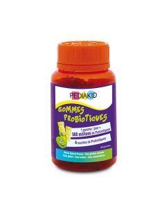 Pediakid Gommes Probiotiques Pilulier 60 Oursons Goût Pomme