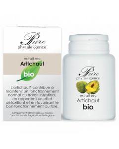 Phytalessence Extrait sec Artichaut Bio 60 Gélules