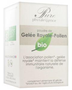 Phytalessence Poudre de Gelée Royale-Pollen Bio 60 Gélules