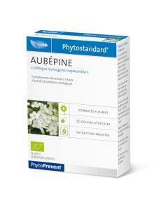 PhytoPrevent Phytostandard Aubépine Bio 20 gélules végétales