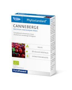 PhytoPrevent Phytostandard Canneberge Bio 20 gélules végétales