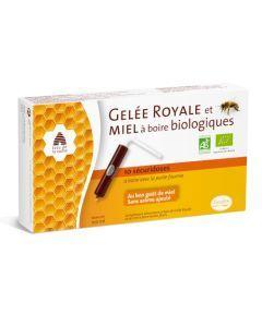 Pileje Gelée Royale & Miel à boire biologiques 10 unidoses de 10 ml