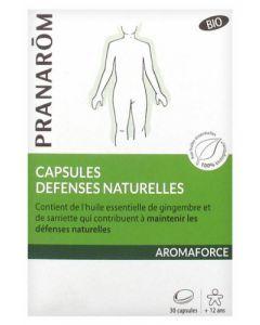 Pranarôm Aromaforce Capsules Défnse Naturelles Bio 30 capsules