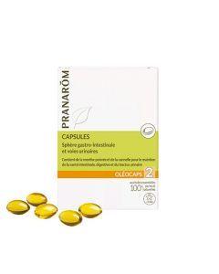 Pranarôm Oléocaps 2 Gastro Intestinal et Urinaire 30 Capsules