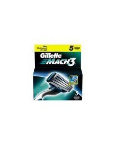 Gillette Recharges Pour Rasoir Mach 3 Pack de 5 Lames