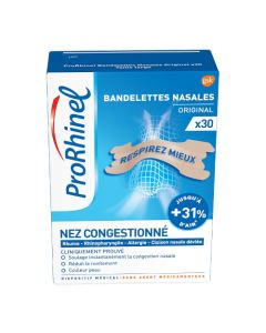 Prorhinel Bandelettes Nasales Original x 30