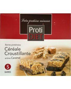 Protidiet Barres Protéinées Céréale Croustillante Arôme Caramel 5 Barres
