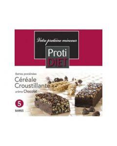 Protidiet Barres Protéinées Céréale Croustillants Arôme Chocolat 5 Barres